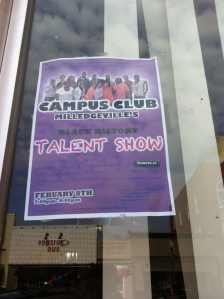 Campus Club Milledgeville Talent Show Poster