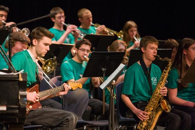 JAS, Jazz in schools, District Honor Bands Concert, Roaring Fork High School, Feb. 16, 2013