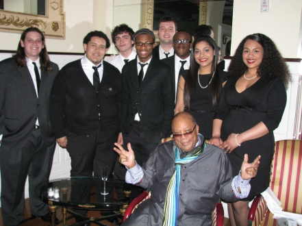 Quincy Jones with the Berklee City Music All-Stars