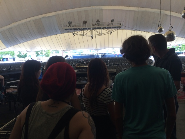 City Music Summer Scholars Looking out over Blue Hills Bank Pavilion before the concert