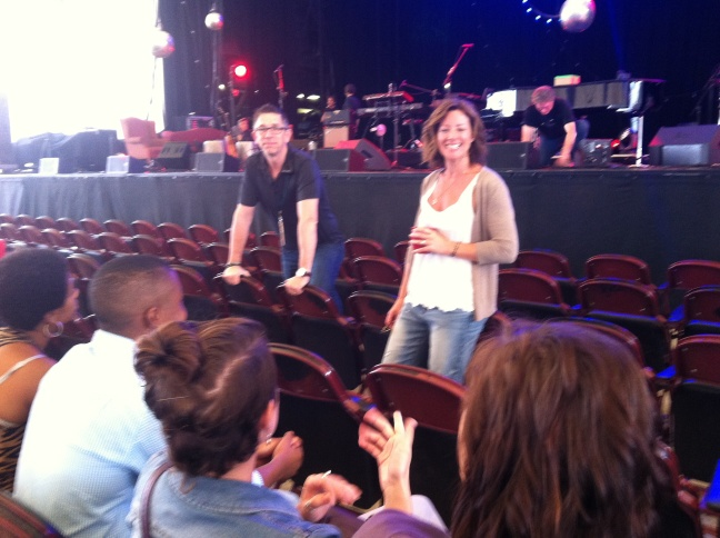 Sarah McLachlan Talking with BCMN students before her 7/19 concert