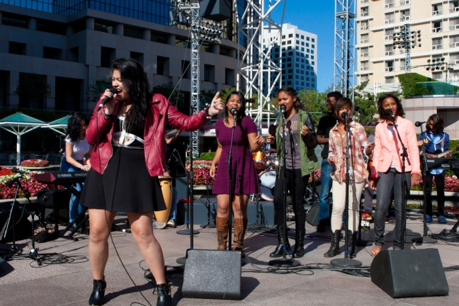 City Music Network Students performing at Youth Power-Up Day